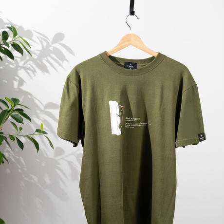 オリジナルTシャツ【クマゲラ】 Black Woodpecker FOREST GREEN