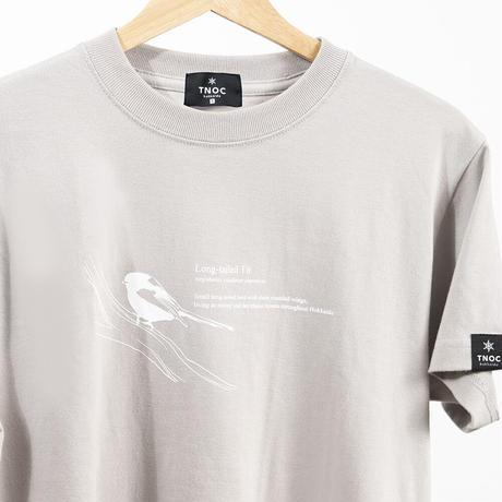 オリジナルTシャツ【シマエナガ】 Long-tailed Tit CLOUD GRAY