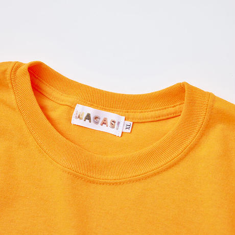F-WA004  WAGASIプリントロンT /    オレンジ