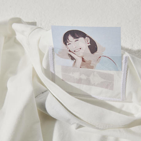 推しT×ドラマティックキャミ  / ピュアホワイト×ピンク