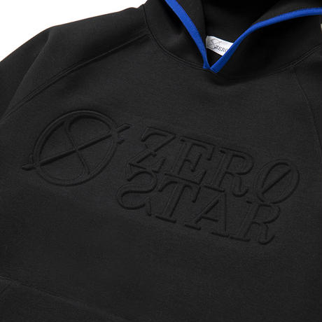 F-ZS003 ZERO STAR エンボスプリントパーカー / ブラック
