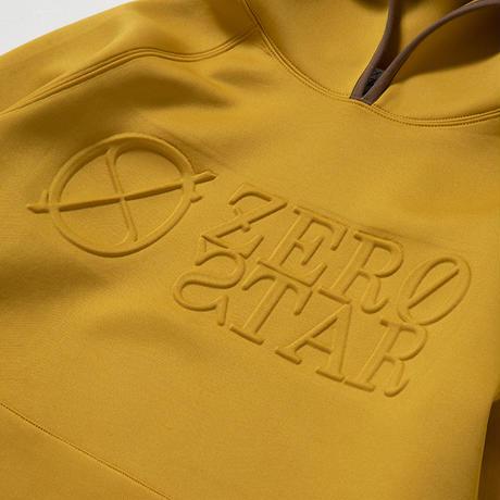 F-ZS003 ZERO STAR エンボスプリントパーカー / マスタード