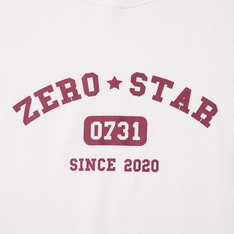 F-ZS013 ZEROSTARカレッジプリントスウェット /    オフホワイト
