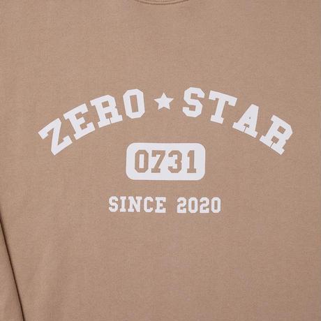 F-ZS013 ZEROSTARカレッジプリントスウェット /    ベージュ