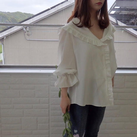 big collar blouse