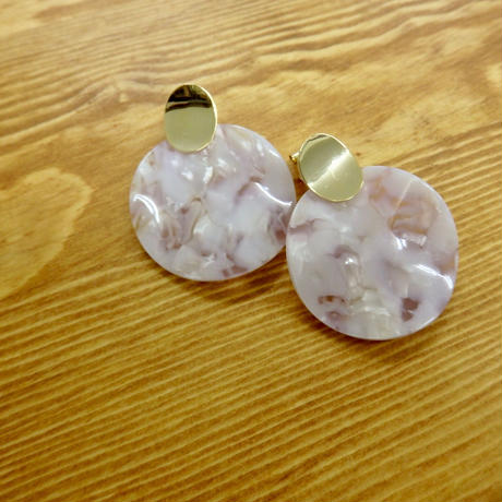 circle clear earrings