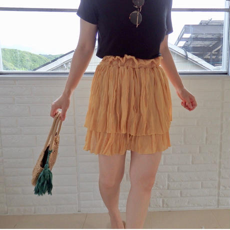 chiffon mini skirt