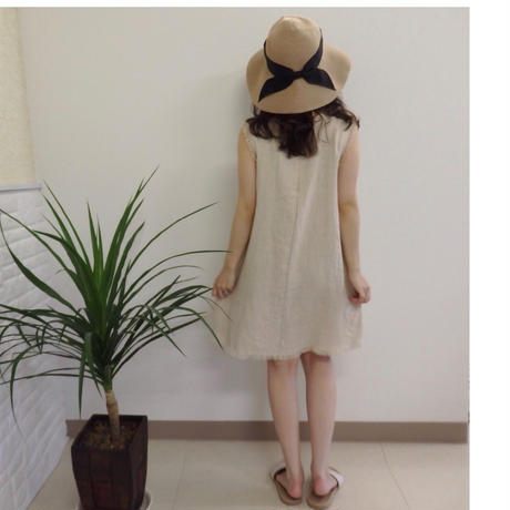 cut linen one-piece