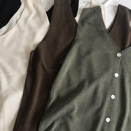 linen v-neck tops