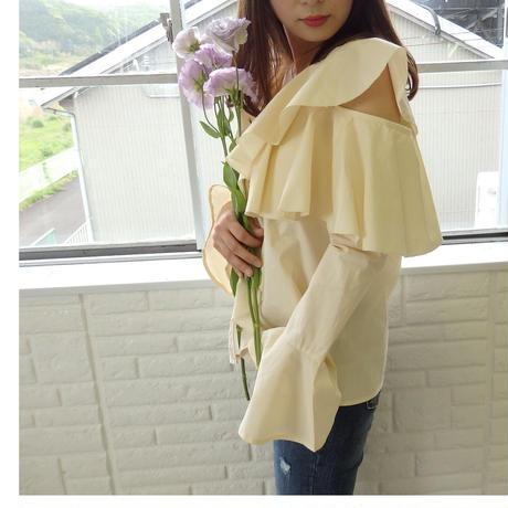 cut frill blouse