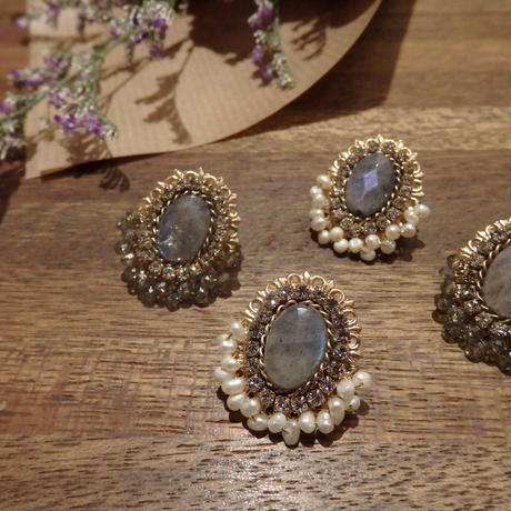 antique  opal earrings