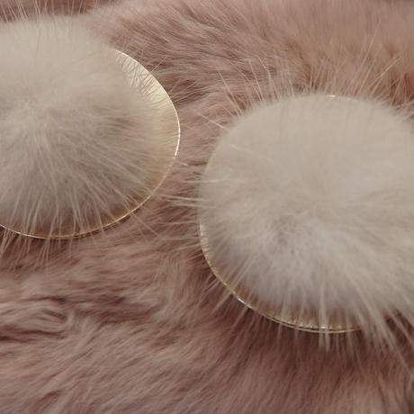 mink fur earrings