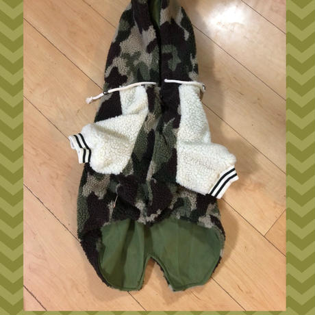 迷彩パーカー (中型犬〜大型犬)