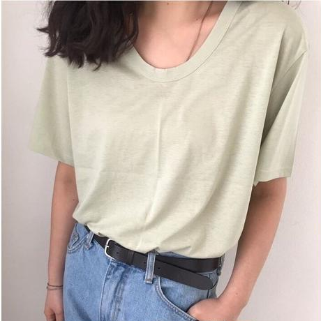 Simple U Neck T-shirt