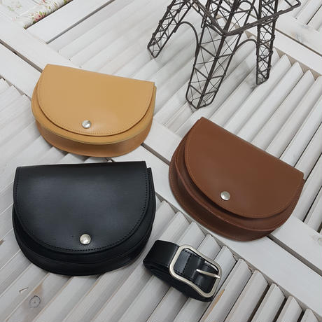 real leather 2way pochette