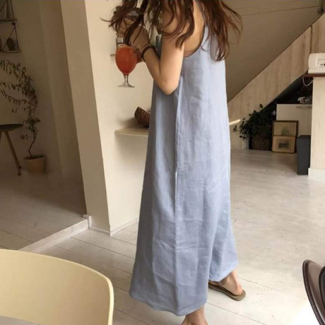 linen Sleeve One piece