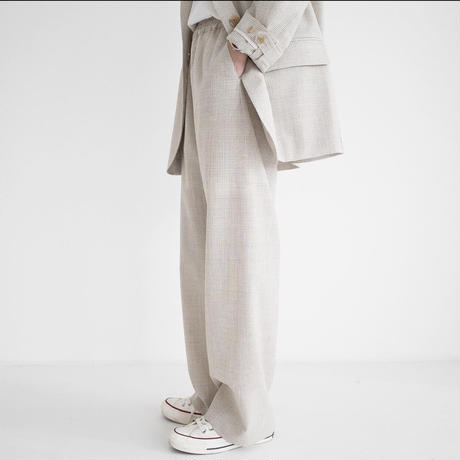 〔 l i m i t e d - l i n e 〕  Plaid Pocket pants (Beige)