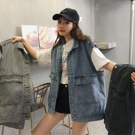 ネット レッド デニムジャケット 女 新しいデザイン 春夏 韓国風 ルース 何でも似合う