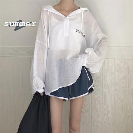 夏 新しいデザイン 韓国風 セット ファッション 何でも似合う 日焼け止め 帽子付き シ