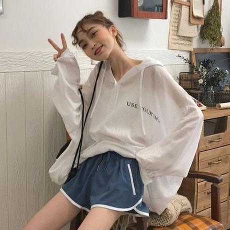 新しいデザイン マイナス 夏 韓国風 若くなる 日焼け止め 帽子付き シャツ なし 良い
