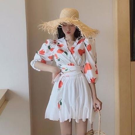 第1 番 ピープル ホーム 女性服 ファッション 韓国風 襟 ひもあり 短いスタイル プ