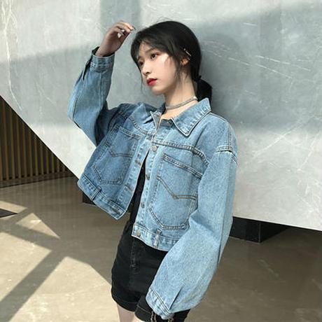 春秋 新しいデザイン ファッション デニム衣類 ジャケット デニムジャケット 女 怠惰な