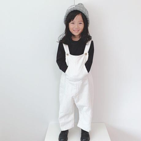 (即納)corduroy ankle-length salopett