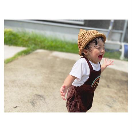 【即納】cotton linen baby rompers