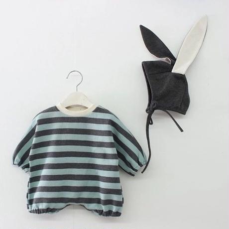 《取寄せ》baby border jump suit