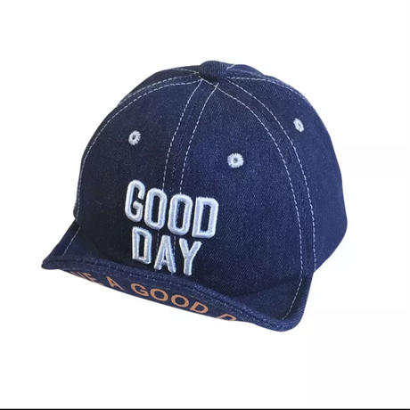 (即納)denim logo 6panel cap