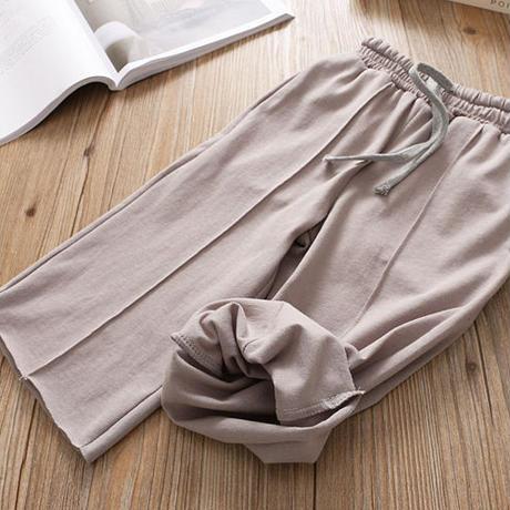 [即納]print tee × pants set up