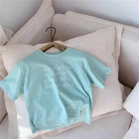 【即納】Candy colour letter Tee