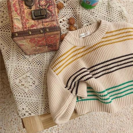 (即納)border dolman sweater