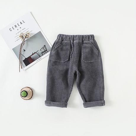 (即納)corduroy tuck pants