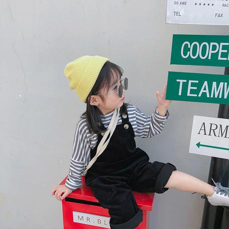 (即納)corduroy Baby salopette