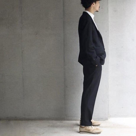 【Riprap】Wool Flannel NO TUCK SLACKS ブラック