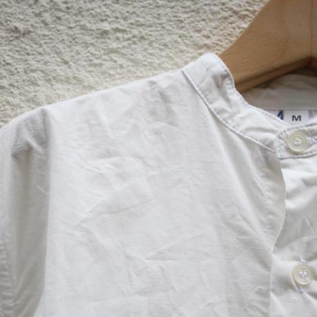 【yarmo / ヤ―モ】バンドカラーシャツ / ホワイト