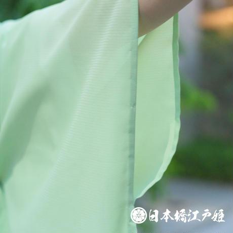 0280 夏物 色無地 薄物 絽 化繊 薄緑 身丈158cm