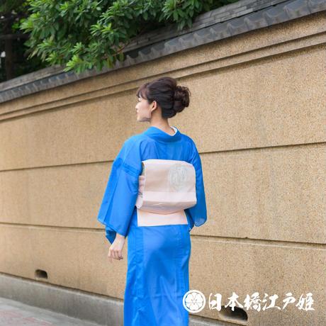 0219 夏物 名古屋帯 Aランク美品 絽 正絹 クリーム色 壺文 お太鼓柄 帯丈346cm