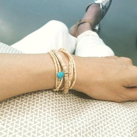 「1Bracelet For 1Meal Project」 ターコイズ