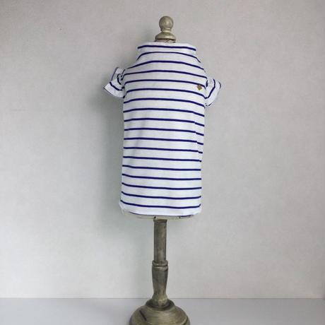 フリル袖Tシャツボーダー