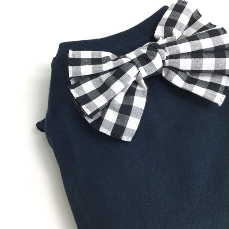 フリル袖Tシャツ ギンガムリボン 1号~3号