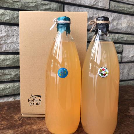 無添加りんごジュース 1000ml×2本(星の金貨・ブレンド)