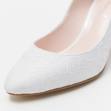 HALF WEDGE PUMPS - IVORY LACE