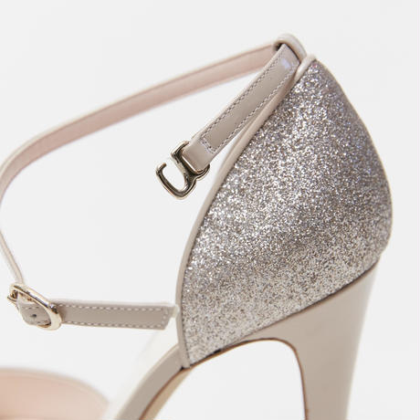 ANKLE STRAP SEPARATE SANDALS - PINK GOLD