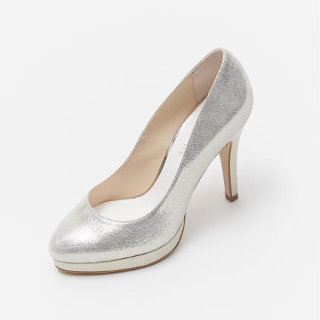 HIGH HEELED PLATFORM PUMPS-GOLD