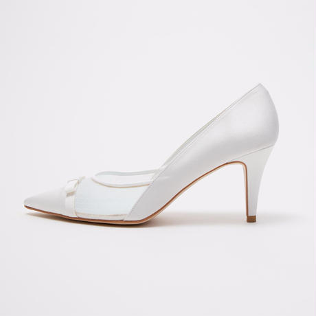 TULLE POINTED PUMPS - IVORY