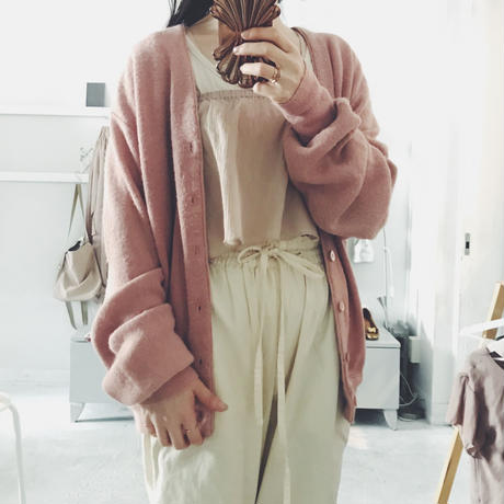 used pink knit cardigan