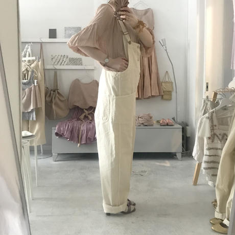 HARVESTY salopette  pants , écru denim