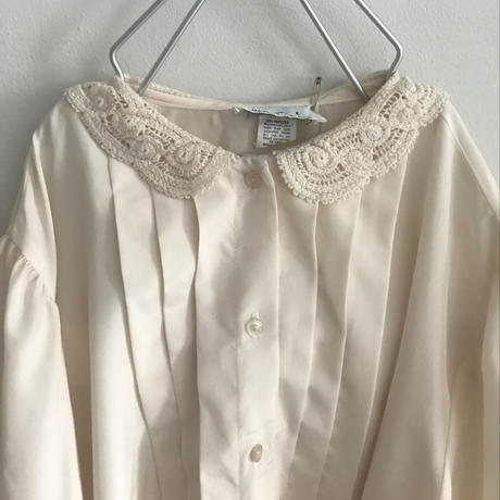 used lace collar  blouse